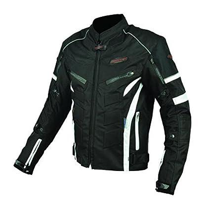 Blouson de Moto textile noir & blanc Homologué - Urban - RiderTec - taille: XXL