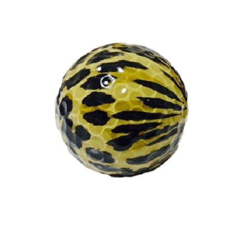 LOTUS LIFE デザインゴルフボール コレクション ゴルフ好きな方へのにプレゼントに最適 (ヒョウ柄)