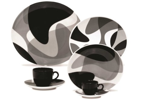 Karim Rashid 30 Pieces Porcelain Dinnerware / Espresso Set (Toss)