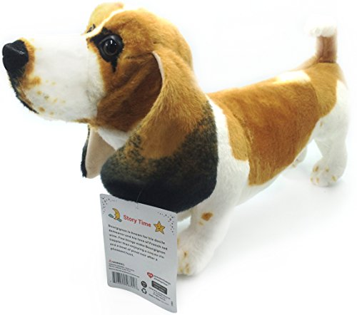 VIAHART 19 Inch Large Dog Stuffed Animal Plush   Bourgignon the Basset Hound