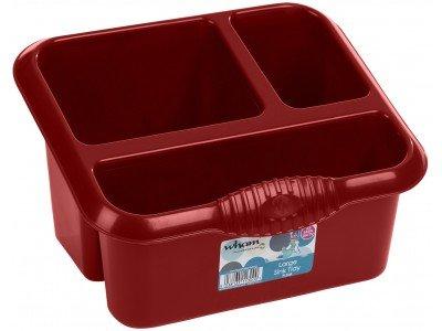 Alta qualità, in plastica, misura grande, scolaposate, colore: Rosso