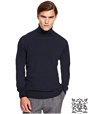 Best of British Pure Merino Wool Roll Neck Jumper