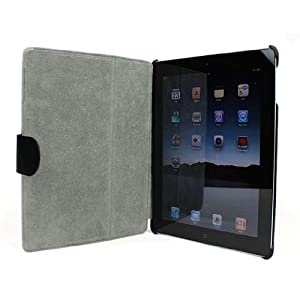 AYL (TM) Slim and Lightweight Leather Case Folio with Secure Latch and built-in Stand for Apple iPad 2