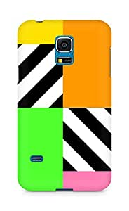 Amez designer printed 3d premium high quality back case cover for Samsung Galaxy S5 Mini (Colorful Squares)