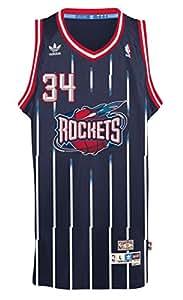 Houston Rockets #34 Hakeem Olajuwon NBA Soul Swingman Jersey, Navy, Size: Small