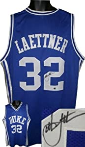 Christian Laettner Autographed Hand Signed Duke Blue Devils Blue Custom Jersey