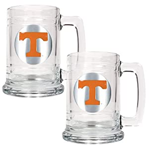 Tennessee Volunteers Ncaa 2Pc 15Oz Glass Tankard Set by Great American Products