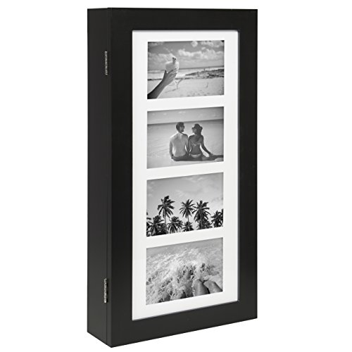 Best Choice Products Wall Mounted Jewelry Armoire Cabinet Organizer W/ 4 Picture Frames Black (Picture Jewelry Box compare prices)