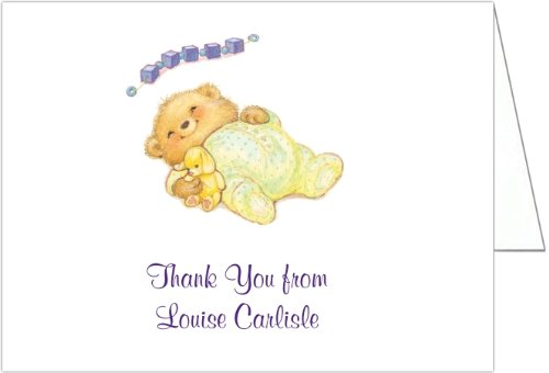 Sleeping Cutie Yellow Baby Shower Thank You Cards - Set Of 20 front-1031013