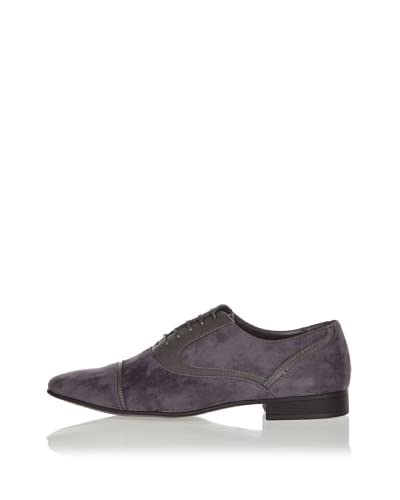 Galax Zapatos Oxford Ribetes Gris