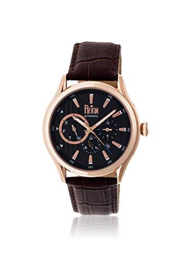 Reign Automatic Men's Gustaf Dark Brown/Black Leather Watch