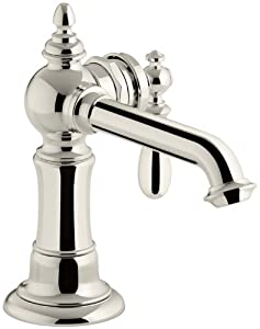 Stationary Tub Faucet : ... Artifacts Single-handle bathroom sink faucet, Vibrant Polished Nickel