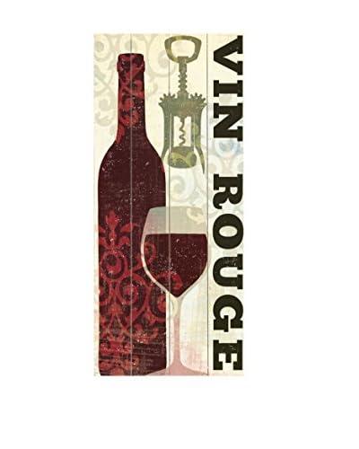 Vin Rouge Wood Wall Décor, Beige/Black, 24 x 10