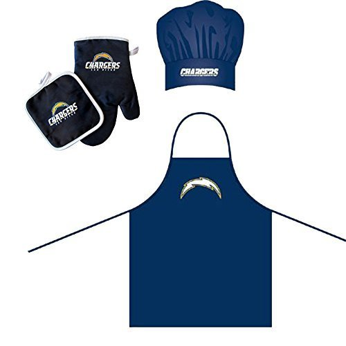 san-diego-chargers-nfl-barbeque-apron-chefs-hat-and-pot-holder-deluxe-set-by-pro-specialties-group