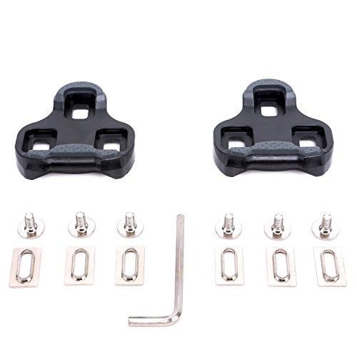 VINQLIQ 9 Degree Bike Bicycle Cycling Pedal Cleats Set Self-locking Plate Delta SPD-SL Float Compatible Lightweight Durable with Screws, Gaskets and Screwdriver for Road Bike SPD Shoes and Pedal (Look Delta Cycle Cleats compare prices)
