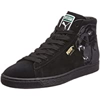 Puma Unisex Suede Mid Classic+ RoarCat Black and Smoked Pearl Leather Boat Shoes - 11 UK
