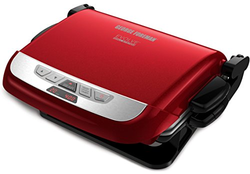 George Foreman Grp4842R 2-In-1 Evolve Grill, Red