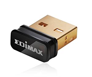 Edimax EW-7811Un 150M 11n Wi-Fi USB Adapter, Nano Size Lets You Plug it and Forget it, Ideal for Raspberry Pi, Supports Windows, Mac OS, Linux
