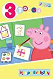 Peppa Pig Edad 3 tarjeta de cumpleaños