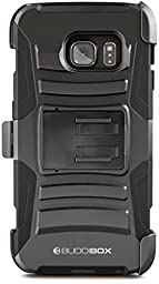 Galaxy S6 Edge Case, BUDDIBOX [HSeries] Heavy Duty Swivel  Belt Clip Holster with Kickstand Maximal Protection Case for Samsung Galaxy S6 Edge, (Black)