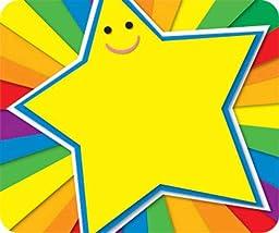 Carson Dellosa Rainbow Star Name Tags (150006)