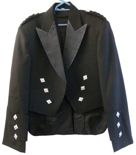 Boys Prince Charlie Scottish Kilt Jacket With Vest/Waistcoat - Sizes 20 - 34