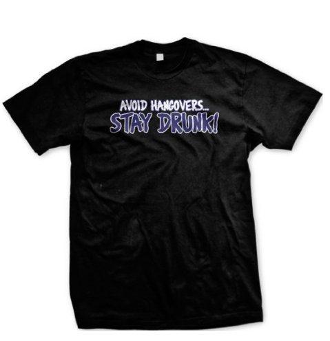 Evitar-resacas-Stay-Drunk-camiseta-de-Funny-para-hombre-cerveza-potable-Camiseta-de-manga-corta