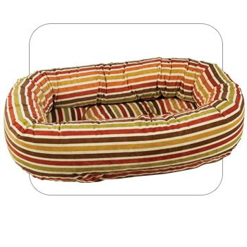 Salsa Stripe Large Donut Dog Bed By Bowsers