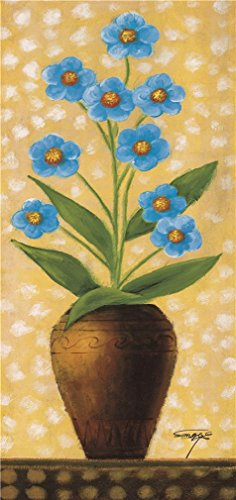 Oil Painting 'Blue Flower', 18 x 38 inch / 46 x 97 cm , on High Definition HD canvas prints is for Gifts And Bar, Hallway And Home Office Decoration, largeart prints (Expresso Hd Bike compare prices)