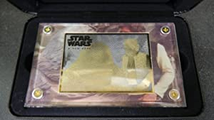 """Star Wars Trilogy 24k Gold Collectibles """"A New Hope"""" 24k Gold Card Holographic Plaque with Han Solo and Jabba the Hutt Limited Edition 1,997"""
