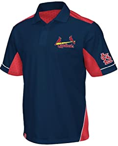 St. Louis Cardinals Majestic MLB Victory Anthem Performance Polo Shirt - Navy by Majestic