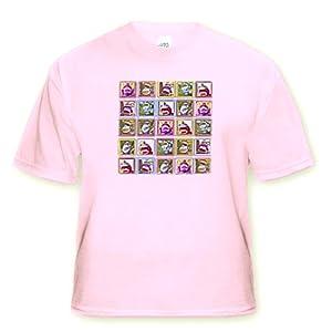 Lee Hiller Designs Colorful Sock Monkeys - Colorful Sock Monkeys Squares III - T-Shirts - Youth Light-Pink-T-Shirt Med(10-12)