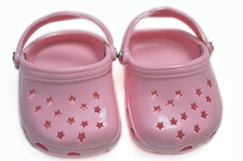 PINK STAR CLOGS FOR AMERICAN GIRL DOLLS