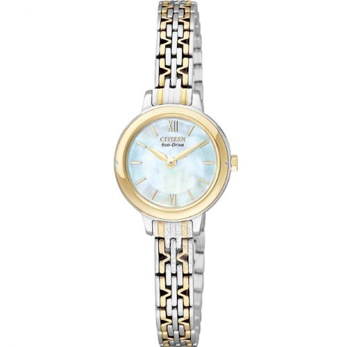 Citizen, Ladies Eco-Drive Analogue Watch EX1024-57D with Mother of Pearl Dial and Manicure Friendly Clasp