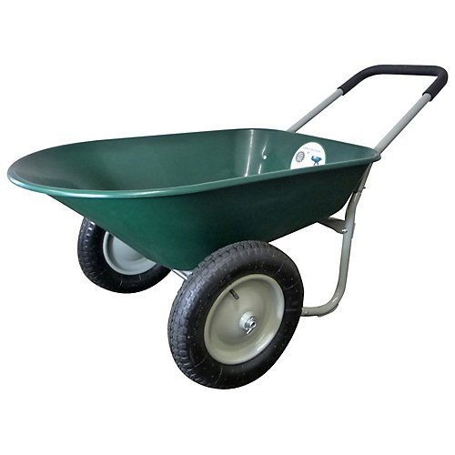 Marathon Dual-Wheel Residential Yard Rover Wheelbarrow and Yard Cart - Green (Wheelbarrow Dual Wheel compare prices)