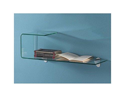 Mensola Liz in vetro curvato - Tomasucci - Librerie e Mensole