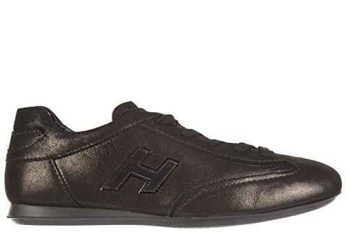 hogan-scarpe-sneakers-donna-in-pelle-nuove-olympia-h-flock-nero-eu-39-hxw057016877vob999
