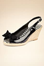 Peep Toe Bow Espadrille Sandals [T02-2907-S]
