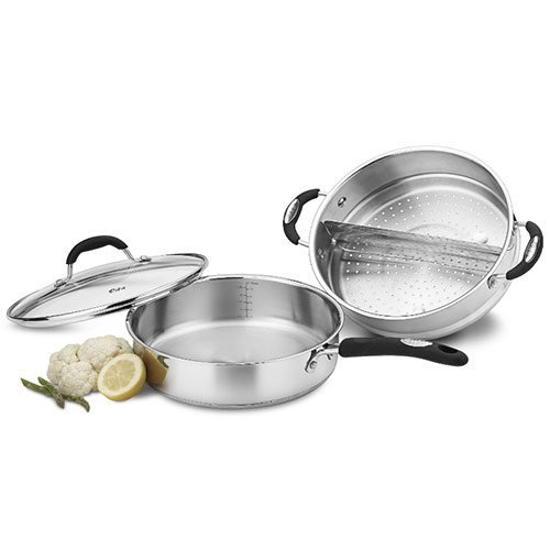 Weight Watchers WWS3-3524 4-Piece Stainless Steaming/Sauté Set (Weight Watchers Cookware Set compare prices)