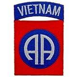 US Military Vietnam War Iron On Patch - 82nd Airborne Vietnam Applique