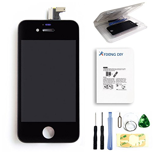 For Iphone 4S (For At&T/Verizon/Sprint/Gsm/Cdma) Full Set Lcd Screen Replacement Digitizer Glass Lens Assembly Display Touch Panel Black + Free Repair Tool Kits [Ships From Usa]