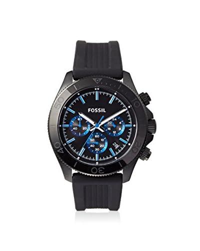 Fossil Men's BQ1292 Classic Black/Blue Silicone Strap Watch