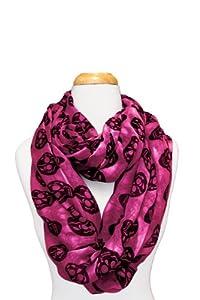 Infinity Loop Skull Design Scarf (Pink/Black)