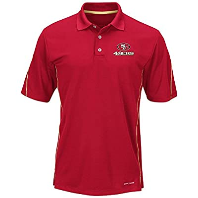 "San Francisco 49ers Majestic ""Field Classic"" Men's Cool Base Polo Shirt - Red"