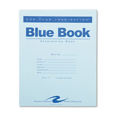 Examination blue book, wide rule with margins, 8-1/2 x 7, 12 sheets/24 pages - Buy Examination blue book, wide rule with margins, 8-1/2 x 7, 12 sheets/24 pages - Purchase Examination blue book, wide rule with margins, 8-1/2 x 7, 12 sheets/24 pages (Roaring Spring, Office Products, Categories, Office & School Supplies, Education & Crafts)
