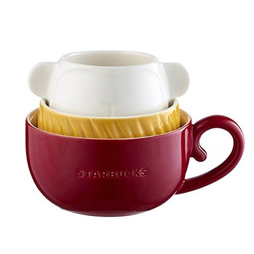 Starbucks (スターバックス) 海外限定 2016年 新年猿シリーズ スタッキングマグ 3連 『MUG SET MONKY STACKG』 6,8,10oz [並行輸入品]