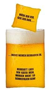 Herding 445927050 Bettwäsche Young Collection Bier, 80x80 + 135x200 cm, Linon