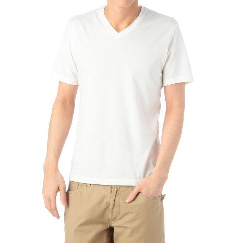 (ボイコット)BOYCOTT VネックカラーTシャツ ホワイト(501) 03(L)
