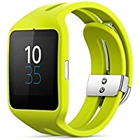 Sony SWR50 1.6-Inch Transflective Display SmartWatch 3 For Android Wear Android 4.3 And Onwards - Black Lime
