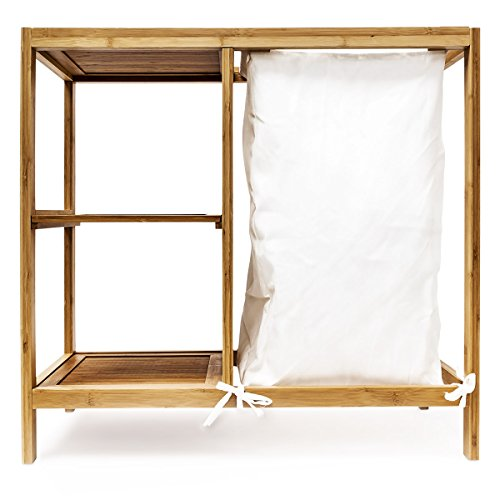 Bambus Wäschekorb + Regal